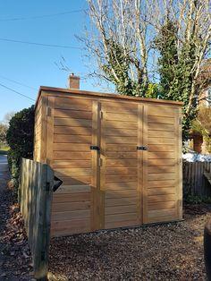 Brilliant wooden outdoor bike storage that look beautiful Outside Living, Outdoor Living, Outdoor Decor, Bike Storage Tent, Solid Sheds, Bike Locker, Yard Sheds, Home Inc, Backyard
