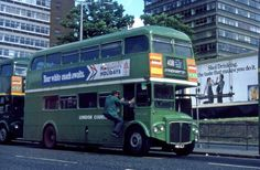 """A later picture of this time reduced to bus livery and duties on Route 408 """"short"""" working from West Croydon to Effingham (instead of through to Guildford). Rt Bus, Routemaster, Double Decker Bus, Bus Coach, London Bus, London Transport, Croydon, Public Service, Latest Pics"""