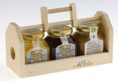 Honey wooden display