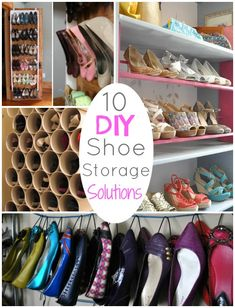 DIY Round UP: 10 DIY Shoe Storage Solutions OMG so need to do some of these!!