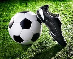 Soccer ball and shoes on a green lawn stock photo - 11010826 Sport Body, Green Lawn, Ronda Rousey, Sports Humor, Sports Illustrated, Helsinki, Football Players, Soccer Ball, Sport Outfits