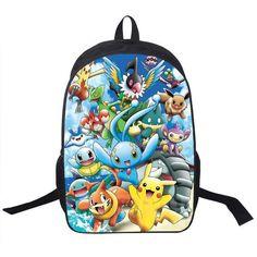 c8de5ac6421f Anime Pokemon Go Backpack For Teenagers Girls Boys School Bags Pikacun  Children School Backpacks Pokeball Kids