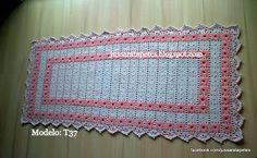 Jussara tapetes: Tapete ou passadeira bordado duplo salmão - T37