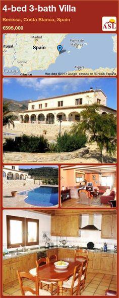 4-bed 3-bath Villa in Benissa, Costa Blanca, Spain ►€595,000 #PropertyForSaleInSpain