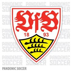 Stuttgart FC Germany Soccer Football Car Bumper Sticker Decal x Football Team Logos, Soccer Logo, Football Soccer, Bundesliga Logo, Badges, Championship League, Sc Freiburg, Germany Football, Stuttgart Germany