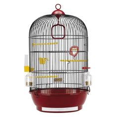 The Ferplast Diva bird cage is a medium-sized round cage for canaries, exotic birds and other small birds. It is made of brass-coated wire mesh, with a black plastic base and removable trays that make daily cleaning effortless. Full Option, Daily Cleaning, Bird Cages, Wire Mesh, Small Birds, Exotic Birds, Diva, Ceiling Lights, Quitter