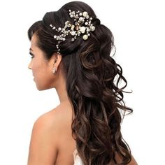 Best Wedding Hairstyles for Long Hair Half Up Long Hairstyles Gallery... ❤ liked on Polyvore featuring beauty products, haircare, hair styling tools, hair and hairstyles
