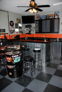 Man Cave Garage Plans | My Harley Man Cave - Garage Designs - Decorating Ideas - HGTV Rate My ...