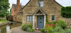 A cottage in Lower Slaughter in the Cotswolds, England