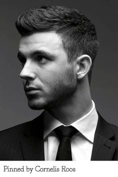 Flat graduated men's cut pinned by Cornelis Roos. Recreate it here: http://myhairdressers.com/hairdressing-training/classics-hair-cutting/flat-graduated-mens-parting.html