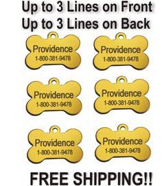 Providence Engraving Round Custom Pet ID Tags - Small or Large Personalized Anodized Aluminum Dog Tags or Cat Tags Available in 9 Colors with Up to 4 Lines of Custom Text Cat Tags, Pet Id Tags, Engraved Pet Tags, Pet Store, Your Pet, Pet Supplies, Dog Cat, Shapes, Messages