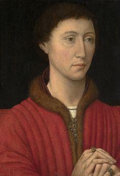 ab. 1450 Follower of Rogier van der Weyden - Portrait of a Man