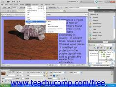 Learn about the menu bar drop-down menus in Adobe Dreamweaver at www.teachUcomp.com. A clip from Mastering Dreamweaver Made Easy v. CS5. Get the complete tutorial FREE at http://www.teachucomp.com/free - the most comprehensive Dreamweaver tutorial available. Visit us today!