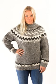 Traditional Wool Pullover Grey - Icelandic Sweaters - Shop Icelandic Products
