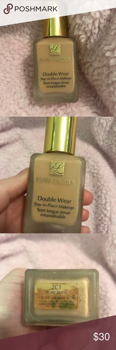 Estée Lauder Double Wear Foundation in Shade 2C1 Brand New Foundation! I got it for Christmas and the color is way to dark for me. I do not have the box The bottle is full! 🤑Bundle 2+ items and save money  📷 Follow my instagram @laur072 Sephora Makeup Foundation