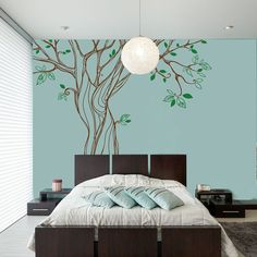 Elegant Oak Tree for Living Room Bedroom or Nursery Wall Decal Sticker~ Item 0299