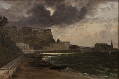 From the Harbour at Naples (Franz Ludwig Catel) Wikimedia Commons, Naples, Painting, Art, Art Background, Painting Art, Kunst, Paintings, Performing Arts