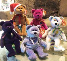Ty Beanie Babies Plush Bears ~ Retired Vintage Collectibles (List Price is for One Ty Beanie of Choice)