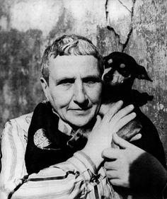 Gertrude Stein, with Pépé, 1946. Photo by Cecil Beaton.