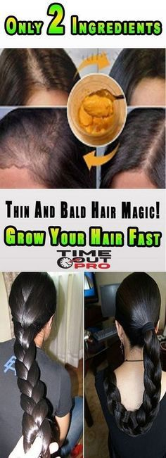 Thin And Bald Hair Magic! Grow Your Hair Fast With Only 2 Ingredients: If you want to have long thick and strong