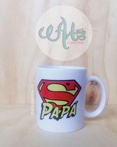 Super Papá. Personaliza tu mugs con las imagenes, frases o nombre. Envíos nacionales. Photo And Video, Mugs, Videos, Tableware, Instagram, Pictures, Dinnerware, Tumblers, Tablewares