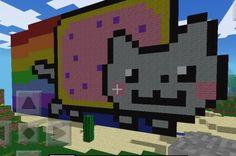 Nyan Cat Minecraft Art
