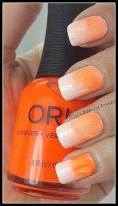 http://www.bettysbeautybombs.com/2014/05/04/orange-creamsicle/ / Orange Creamsicle Mani