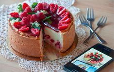 Malinový tvarožník – recept Cheesecake, Food, Basket, Mascarpone, Cheesecakes, Essen, Meals, Yemek, Cherry Cheesecake Shooters