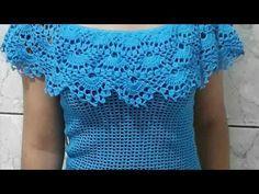 Blusa Estilo Ciganinha em Crochê - YouTube