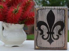 Custom wood sign wall art  Fleur De Lis small home by CSSDesign, $10.00