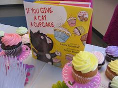 Childrens Books Baby Shower Theme. Cute to add this book to the cupcake dessert table!