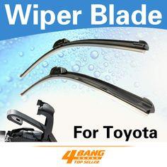 "Car-Styling 2PCS 17""+17"" Wiper Blades Windshield Bracketless Frameless Soft Rubber For Toyota Highlander 2008-2011"