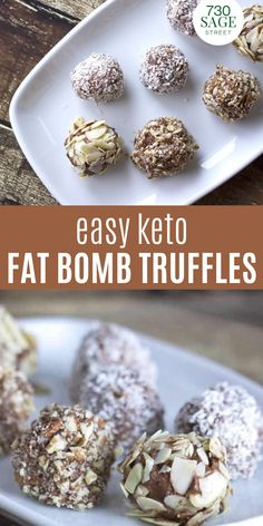 This low carb truffles recipe was inspired by The 21 Day Sugar Detox book. They make a great keto fat bomb and satisfy that urge for a sweet treat.#easyrecipes #dessert #ketodessert #sweettreats #healthy #onthetable Best Low Carb Recipes, Low Carb Chicken Recipes, Ketogenic Recipes, Keto Recipes, Snack Recipes, Low Carb Pizza, Low Carb Lunch, Low Carb Chili, Truffles Recipe