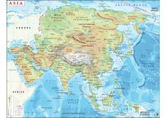 Buy World Latitude and Longitude Map Oceans Of The World, Countries Of The World, Latitude And Longitude Map, Map Coordinates, Geography Map, Asia Map, Continents, Seas, Digital