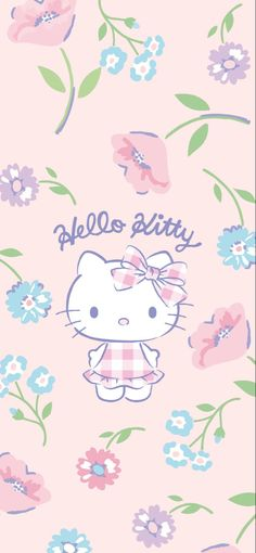 Sanrio Wallpaper, Hello Kitty Wallpaper, Hello Kitty Imagenes, Kitty Images, Friends Wallpaper, Kawaii Drawings, Doraemon, Cute Wallpapers, Backgrounds