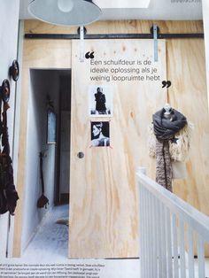 Kikke schuifdeur voor de trap beneden doen?