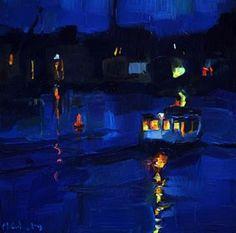 Das blaue Boot 2 - Original Fine Art for Sale - © Edward B. Gordon