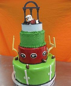 UGA grooms cake because he's a UGA graduate duh
