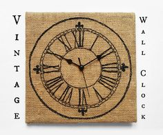 Picture of Embroidered Vintage Wall Clock