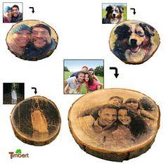 FOTO auf BAUMSCHEIBE Druck auf Holz Bild Geschenk Idee Geburtstag Jubileum Hölzerne Hochzeit Valentinstag Vintage Bilderrahmen Gastgeschenk