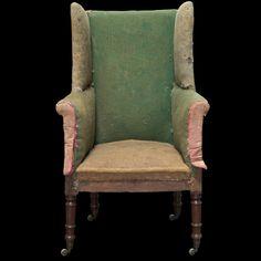 regency style upholstered armchair english circa googlecom wing chairsstool