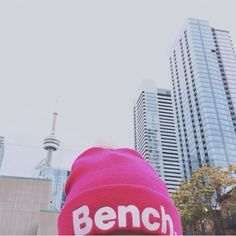 Keeping warm in the city with our bobble beanie! #24hourlife #LoveMyHood