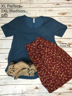 a3c851098 Lularoe outfit of the day: Madison skirt paired with a Perfect tee. Love  this