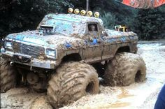 """Lifted Blue Ford Truck Monster """"Mudder"""""""