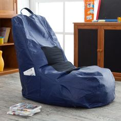 Sit back and enjoy your favorite movies or video games in this bean bag.
