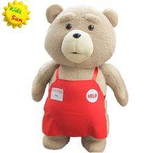 2016 filme Teddy Bear Ted 2 brinquedos de pelúcia no avental 48 CM macio bichos de pelúcia e Plush(China (Mainland))