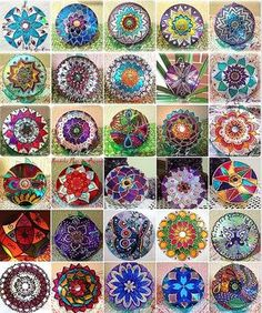Musical Mandalas. Made from old cds.