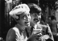 22nd August 1973: Restauranteur Michael Chow with his new wife, American model…