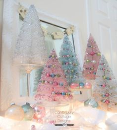 A Very Merry Holiday to you from Canterbury Cottage Designs! Shabby Chic Christmas, Christmas Mood, Noel Christmas, Pink Christmas, Christmas Wishes, Christmas Projects, Vintage Christmas, Christmas Ornaments, Christmas Houses