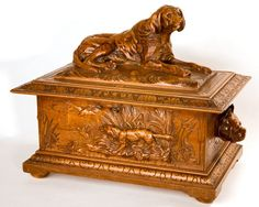 black forest carved box circa 1880